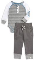 Infant Boy's Burt's Bees Baby Organic Cotton Stripe Bodysuit & Pants Set