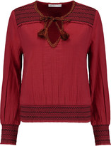 Chelsea Flower Embroidered embellished cotton top