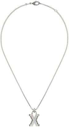 """Gucci Silver """"X"""" letter necklace"""
