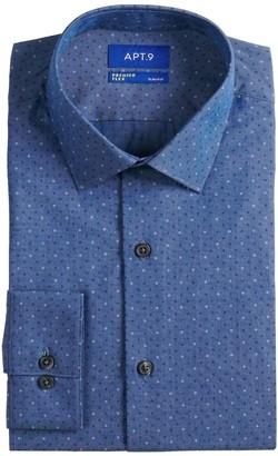 Apt. 9 Men's Premier Flex Tall Slim-Fit Wrinkle Resistant Spread-Collar Dress Shirt