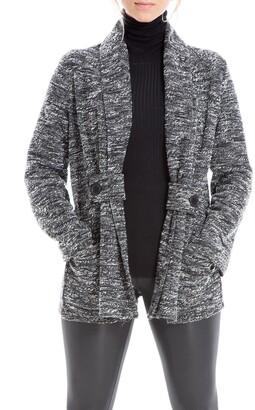 Max Studio Marled Shawl Collar Button Cardigan Jacket