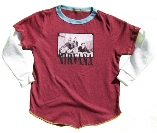 Rowdy Sprout Boy's Nirvana Double Sleeve Tee - Red