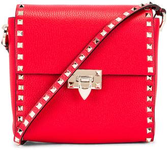 Valentino Garavani Rockstud Shoulder Bag in Red | FWRD
