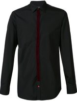 Alexander McQueen velvet trim shirt