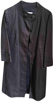 Maje Anthracite Cotton Trench Coat for Women