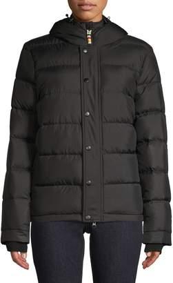 HBC Stripes Women's Hooded Puffer Jacket