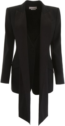 Alexander McQueen Scarf Effect Tuxedo Jacket