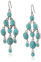 Lucky Brand Turquoise Pyramid Earrings