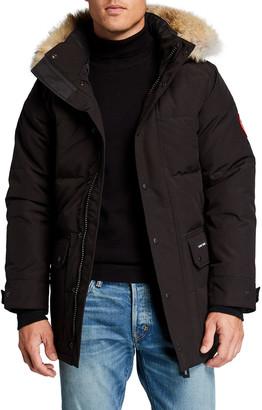 Canada Goose Men's Emory Fusion-Fit Down Parka Coat w/ Removable Fur