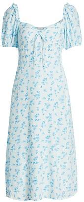 Faithfull The Brand Juniper Floral Midi Dress