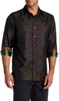 Robert Graham Paisley Print Long Sleeve Woven Shirt