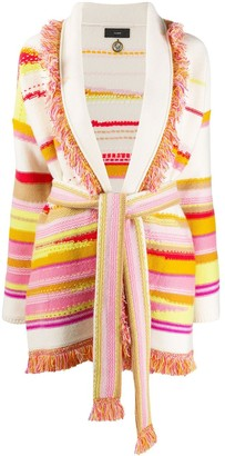 Alanui Oversized Striped Knitted Cardigan
