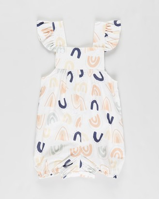 Dukes And Duchesses Apparel Alfie Ruffle Overalls - Babies-Kids