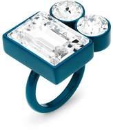 Swarovski Domino Ring, Blue lacquer plating