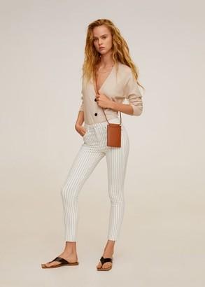 MANGO Crop skinny Isa jeans beige - 1 - Women