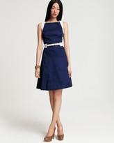 Anne Klein Dress Cotton A-Line Sleeveless Dress