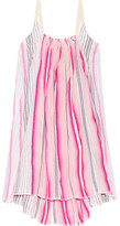 Lemlem Aden Striped Cotton-blend Gauze Mini Dress - Pink