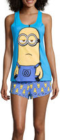 Asstd National Brand Despicable Me Shirt and Shorts Pajama Set