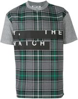 McQ by Alexander McQueen stripe print checked T-shirt