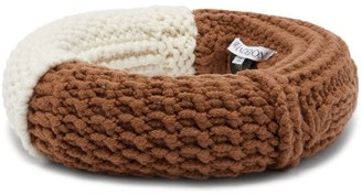 J.W.Anderson Knitted Wool-blend Headpiece - Womens - Brown White