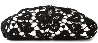 Chanel Pre Owned 2010 Large Floral Lace Clutch