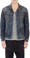 R 13 Men's Denim Trucker Jacket-BLUE