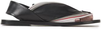 Jil Sander Color-block Leather Slingback Sandals