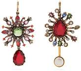 Alexander McQueen Crystal-embellished asymmetric earrings