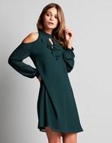 Naf Naf Cold Shoulder Shift Dress