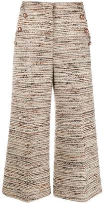 Pt01 Wide-Leg Knitted Culottes