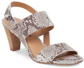 Lucky Brand Patie Snake-Print Leather Sandals