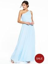 Very One Shoulder Bridesmaid Dress - Soft Blue