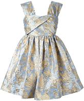 MSGM gold-tone jacquard roses dress