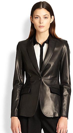 Burberry Leather Blazer