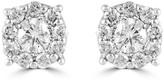 Effy Jewelry Effy Bouquet 14K White Gold Diamond Cluster Stud Earrings, 0.93 TCW