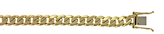Ice 7.7 mm 14K Gold Curb Solid Chain Bracelet