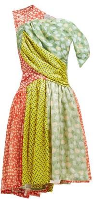 Preen by Thornton Bregazzi Monica Multi-print Asymmetric Silk-blend Dress - Multi