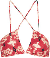 Vix Kali Celina Printed Bikini Top - Red