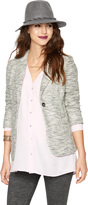 A Pea in the Pod 1 Button Closure French Terry Maternity Blazer