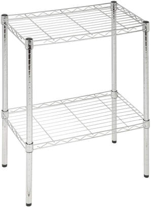 Honey-Can-Do 2-Tier Chrome Utility Shelf