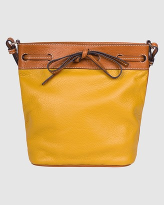 The Horse - Women's Yellow Leather bags - Bucket Bag - Size One Size at The Iconic