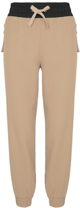 Moncler Camel Crepe Sweatpants