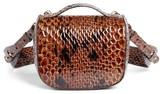 Simone Rocha Small Snake Embossed Leather Box Bag - Brown