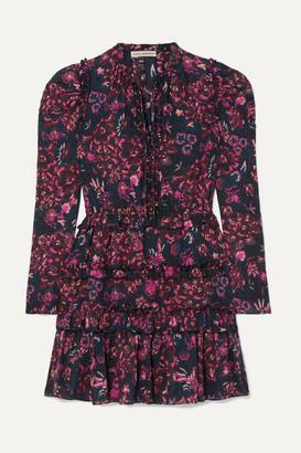 Ulla Johnson Prissa Tiered Floral-print Cotton-blend Voile Mini Dress