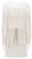 Chloé Lace-trimmed cotton dress