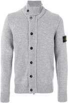 Stone Island button up roll neck cardigan
