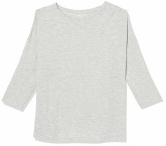 Majestic Filatures Women's Semi-Relaxed 3/4 Sleeve Boatneck