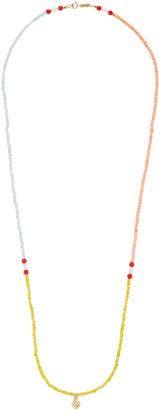 Hirsch Aron Surma 18K Gold and Turquoise, Coral, and Brown Diamond Nec
