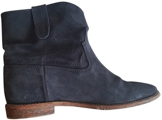 Isabel Marant Cluster Navy Suede Ankle boots