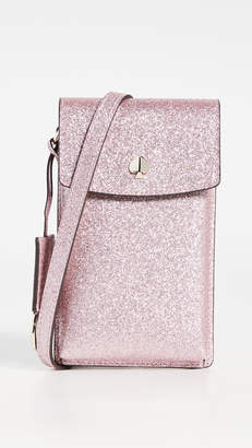 Kate Spade Glitter North South Flap Crossbody Bag